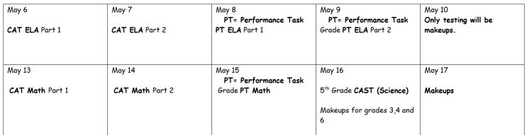 CAASPP Schedule