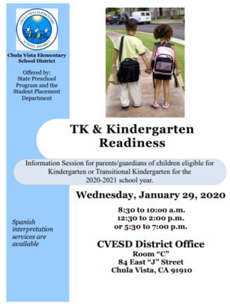 TK-Kinder readiness English