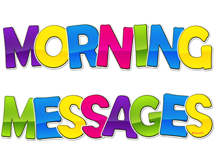 Morning Messages - Differentiated | Teach123