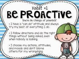 Habit 1: Be Proactive - iLEAD Antelope Valley